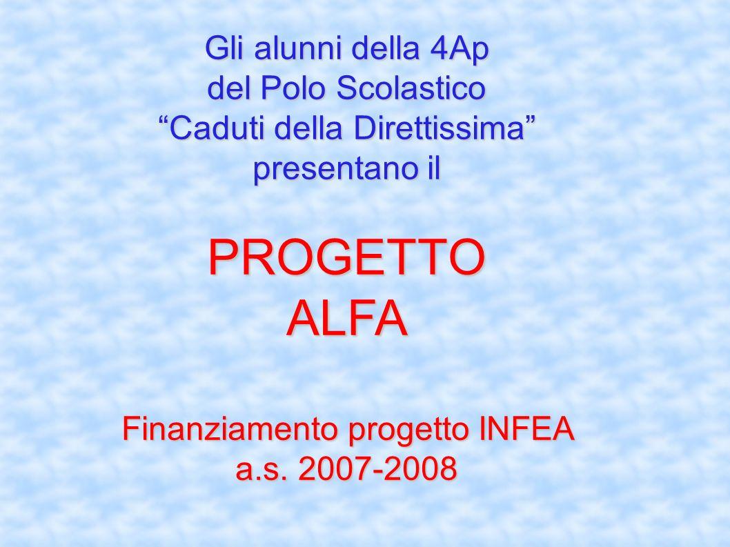 Gli alunni della 4Ap del Polo Scolastico Caduti della Direttissima presentano il PROGETTO ALFA Finanziamento progetto INFEA a.s. 2007-2008