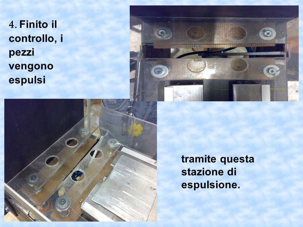 4. Finito il controllo, i pezzi vengono espulsi tramite questa stazione di espulsione.