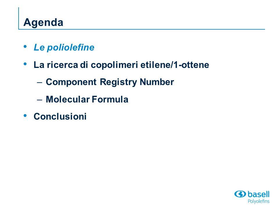 Le poliolefine olefine C=C alcheni α - olefine lineari (etilene, propilene, 1-butene, 1- esene, 1-ottene, ecc.) polimerizzazione per addizione (formula molecolare dellunità ripetitiva uguale a quella del monomero)