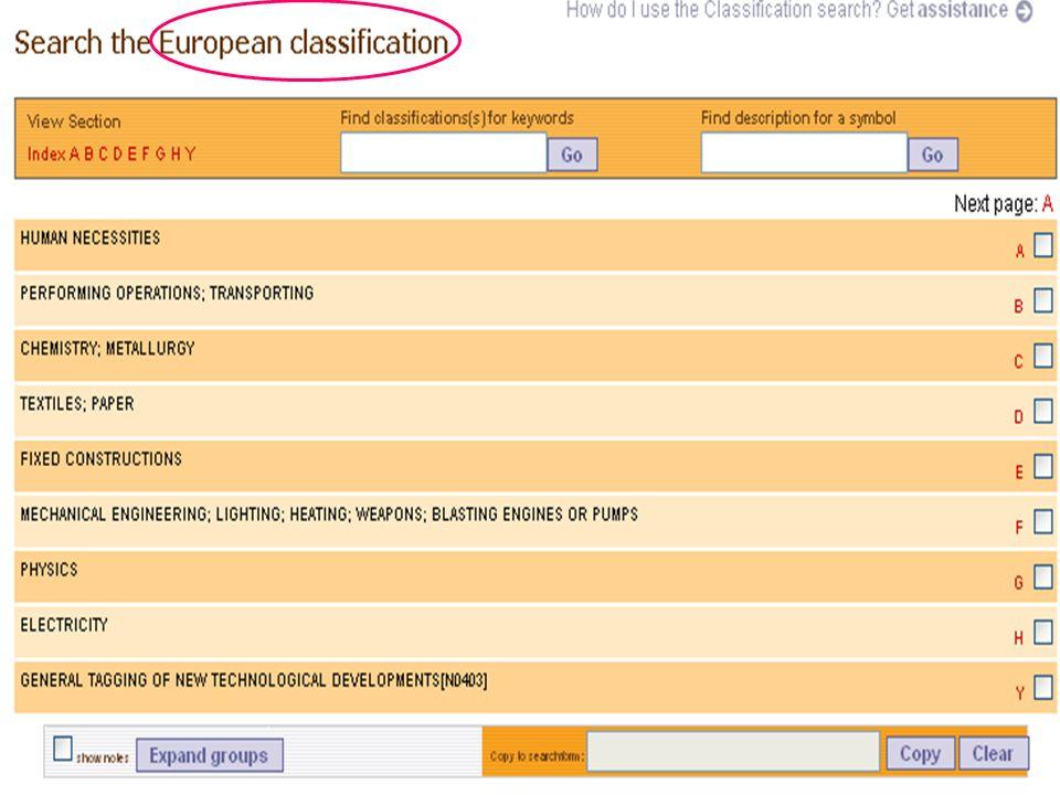 European Classification (1)