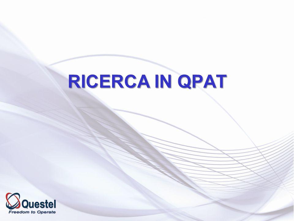 RICERCA IN QPAT