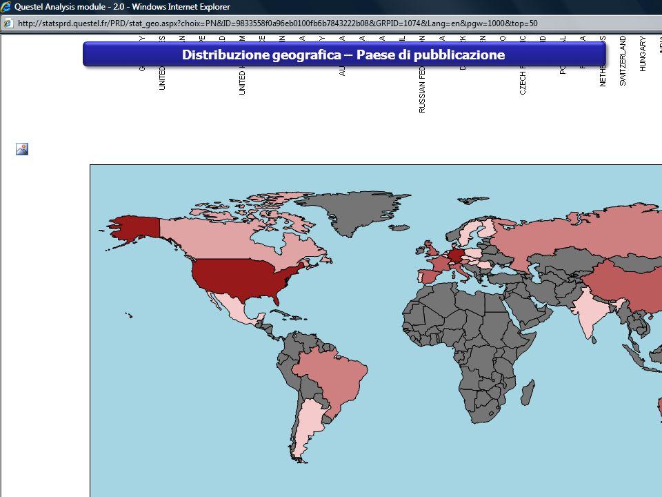 Distribuzione geografica – Paese di pubblicazione