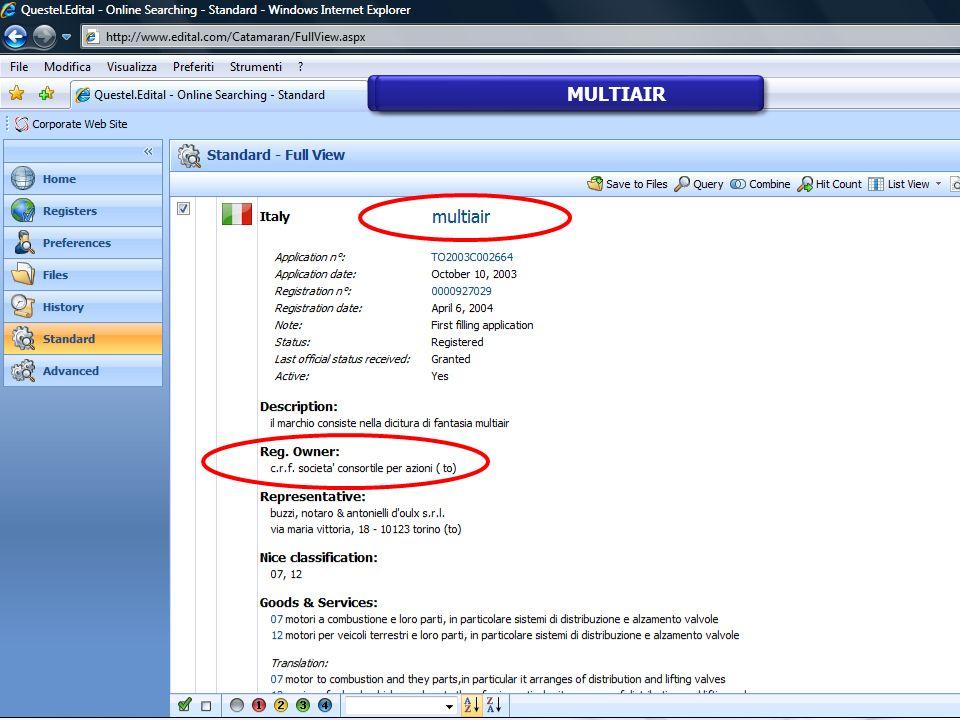 Distribuzione per codici di pubblicazione Famiglie con almeno 1 documento B Esporto dati in Excel Cliccando compare la lista dei documenti