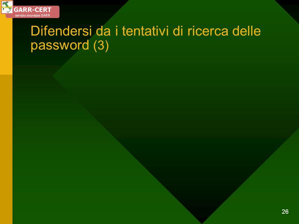 26 Difendersi da i tentativi di ricerca delle password (3)