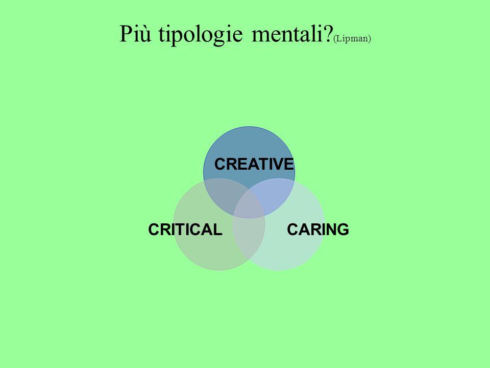 Più tipologie mentali (Lipman) CREATIVE CRITICALCARING