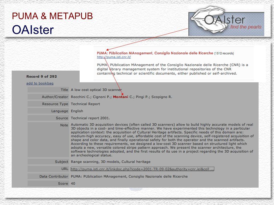 PUMA & METAPUB OAIster