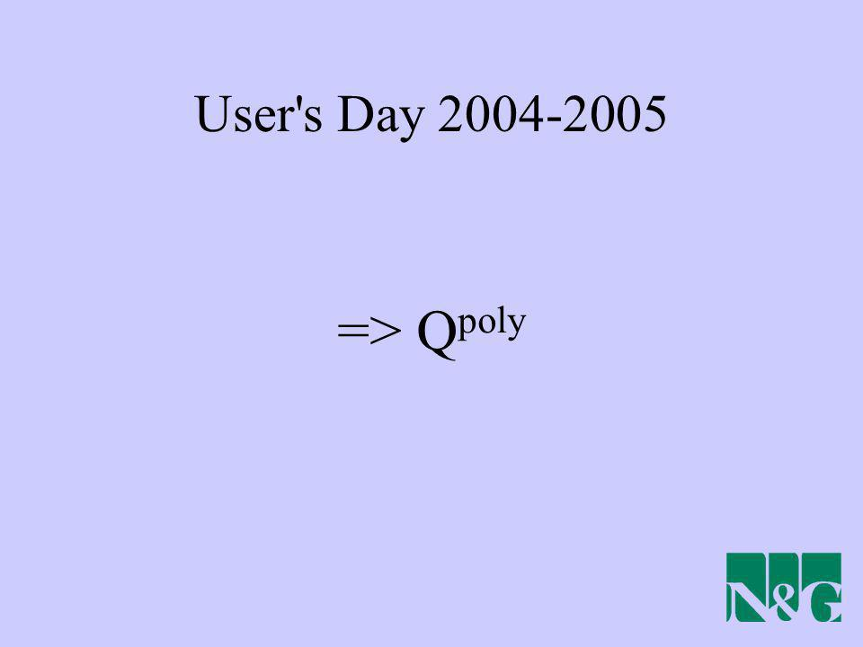 User's Day 2004-2005 => Q poly