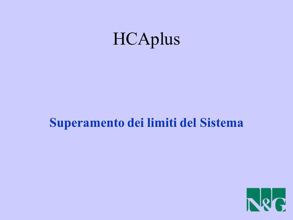 HCAplus Superamento dei limiti del Sistema