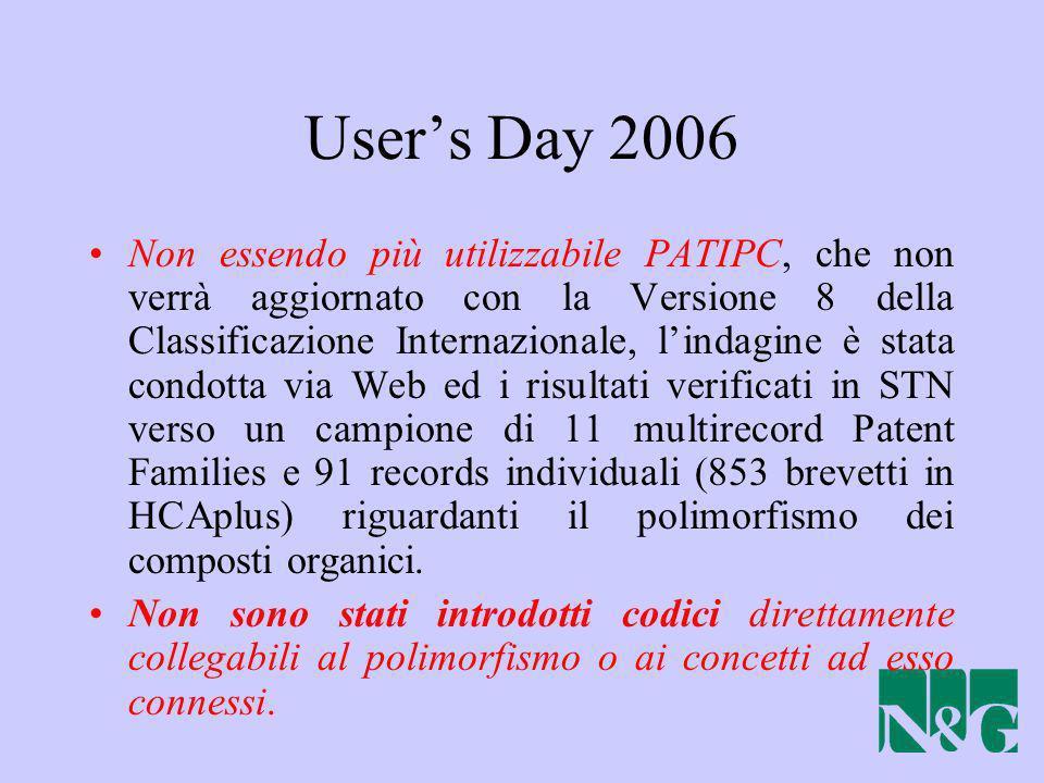 Non essendo più utilizzabile PATIPC, che non verrà aggiornato con la Versione 8 della Classificazione Internazionale, lindagine è stata condotta via W