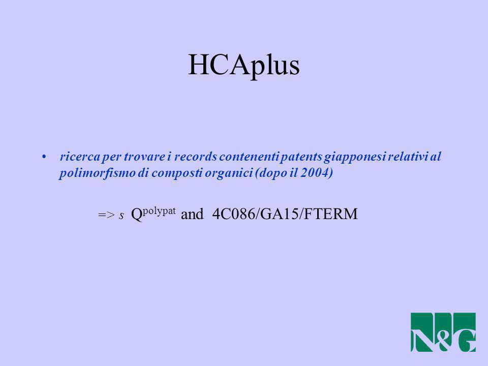 ricerca per trovare i records contenenti patents giapponesi relativi al polimorfismo di composti organici (dopo il 2004) => s Q polypat and 4C086/GA15