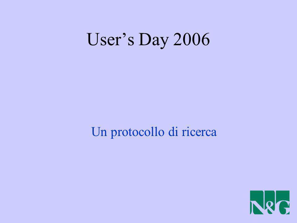Users Day 2006 Un protocollo di ricerca