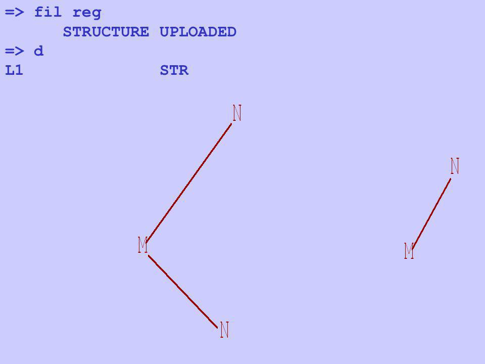 => fil reg STRUCTURE UPLOADED => d L1 STR