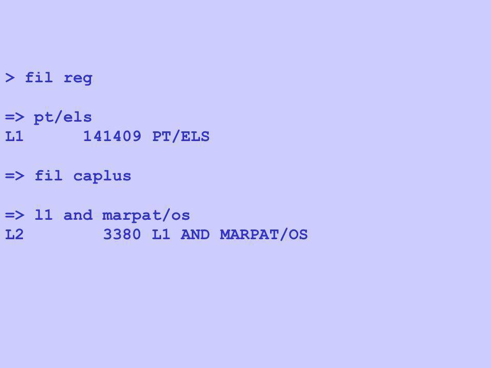 > fil reg => pt/els L1 141409 PT/ELS => fil caplus => l1 and marpat/os L2 3380 L1 AND MARPAT/OS