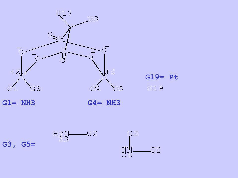 G1= NH3 G3, G5= G4= NH3 G19= Pt