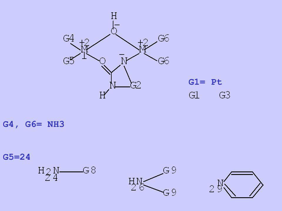 G4, G6= NH3 G5=24 G1= Pt