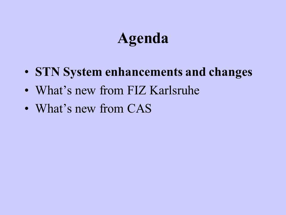 Agenda 09.30 - 10.00 Registrazione 10.00 - 10.30 Novità in STN (CAS Files) Ms.