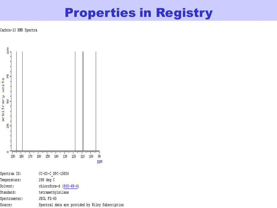 Properties in Registry