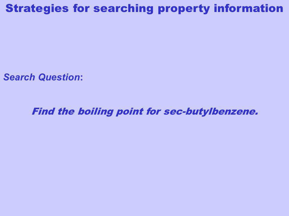 Search Question: Find the boiling point for sec-butylbenzene.