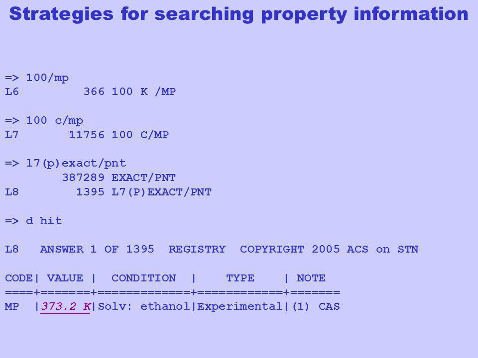 => 100/mp L6 366 100 K /MP => 100 c/mp L7 11756 100 C/MP => l7(p)exact/pnt 387289 EXACT/PNT L8 1395 L7(P)EXACT/PNT => d hit L8 ANSWER 1 OF 1395 REGIST