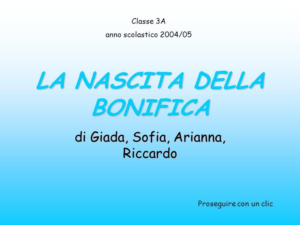 LA NASCITA DELLA BONIFICA di Giada, Sofia, Arianna, Riccardo Classe 3A anno scolastico 2004/05 Proseguire con un clic