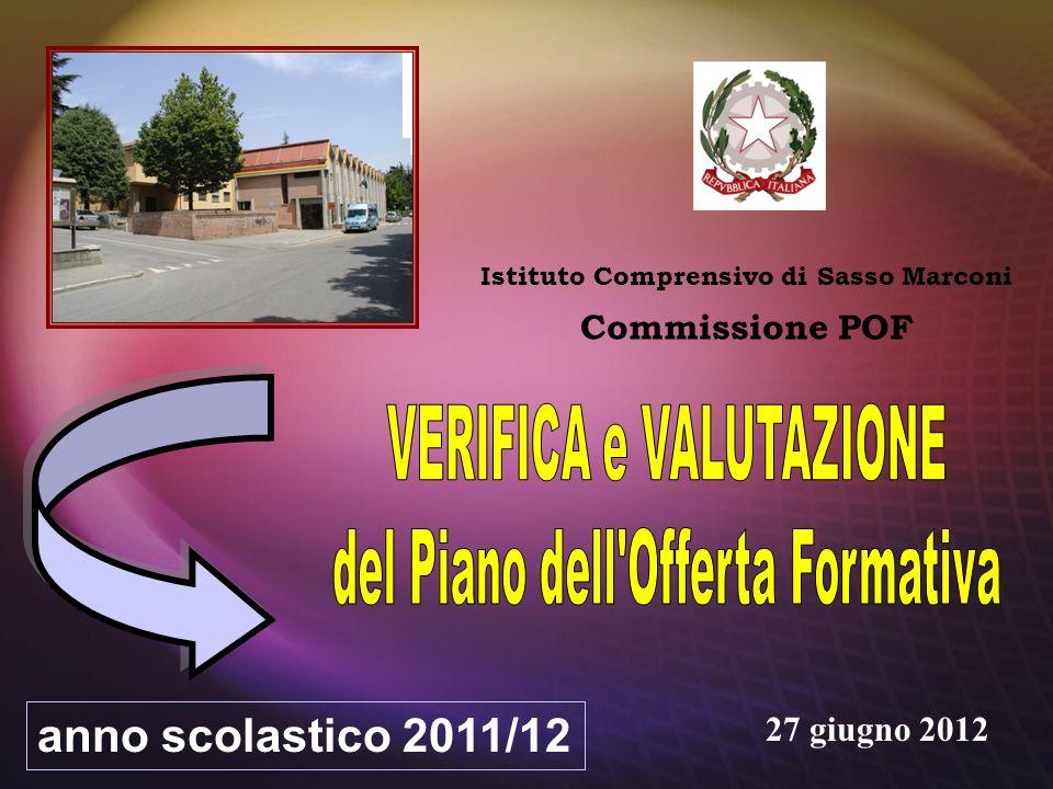 Istituto Comprensivo di Sasso Marconi Commissione POF anno scolastico 2011/12 27 giugno 2012