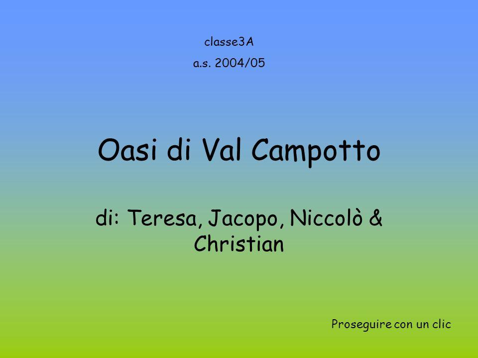 Oasi di Val Campotto di: Teresa, Jacopo, Niccolò & Christian classe3A a.s.