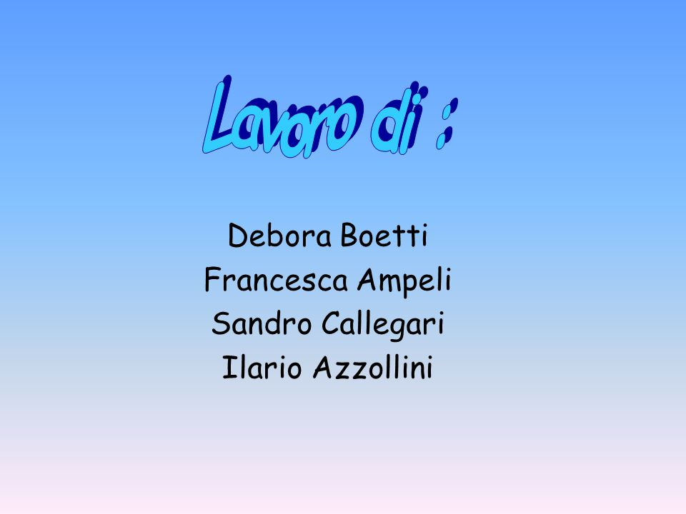 Debora Boetti Francesca Ampeli Sandro Callegari Ilario Azzollini