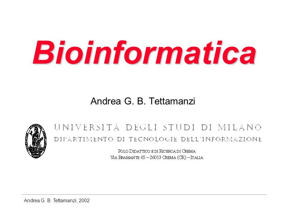 Andrea G. B. Tettamanzi, 2002 Bioinformatica Andrea G. B. Tettamanzi