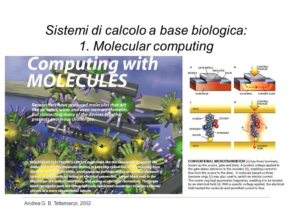 Andrea G. B. Tettamanzi, 2002 Sistemi di calcolo a base biologica: 1. Molecular computing