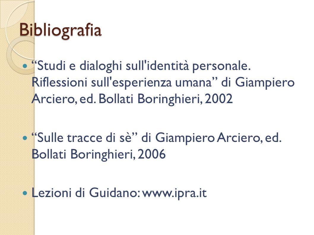 Bibliografia Studi e dialoghi sull'identità personale. Riflessioni sull'esperienza umana di Giampiero Arciero, ed. Bollati Boringhieri, 2002 Sulle tra