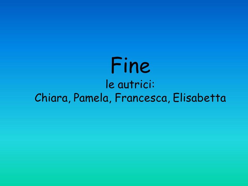 Fine le autrici: Chiara, Pamela, Francesca, Elisabetta