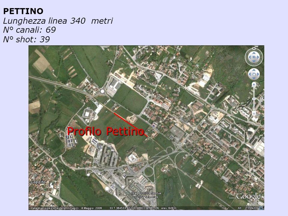 PETTINO Lunghezza linea 340 metri N° canali: 69 N° shot: 39 Profilo Pettino