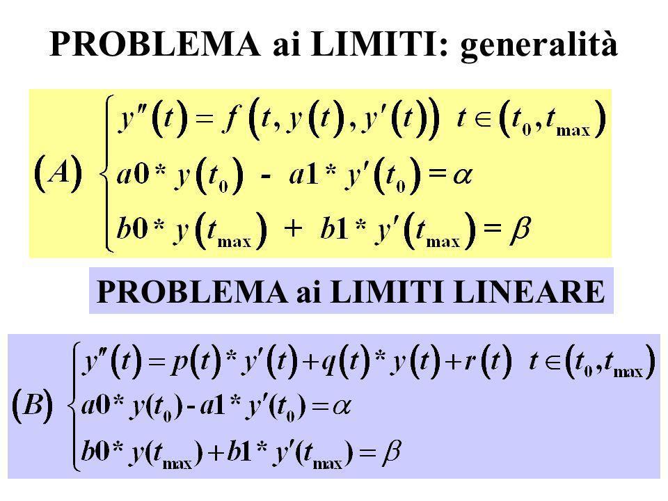 4 PROBLEMA ai LIMITI: generalità PROBLEMA ai LIMITI LINEARE