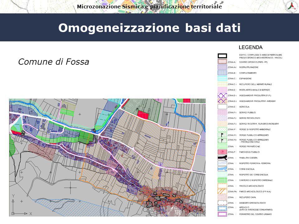Microzonazione Sismica e pianificazione territoriale Omogeneizzazione basi dati Comune di Navelli