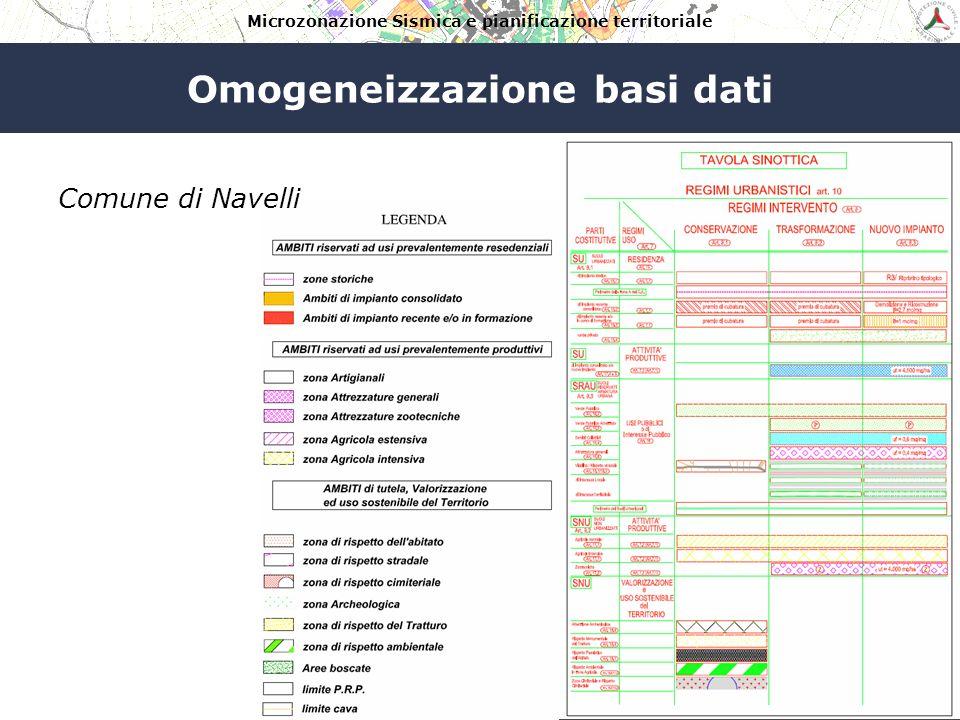 Microzonazione Sismica e pianificazione territoriale Omogeneizzazione basi dati Comune di Goriano Sicoli