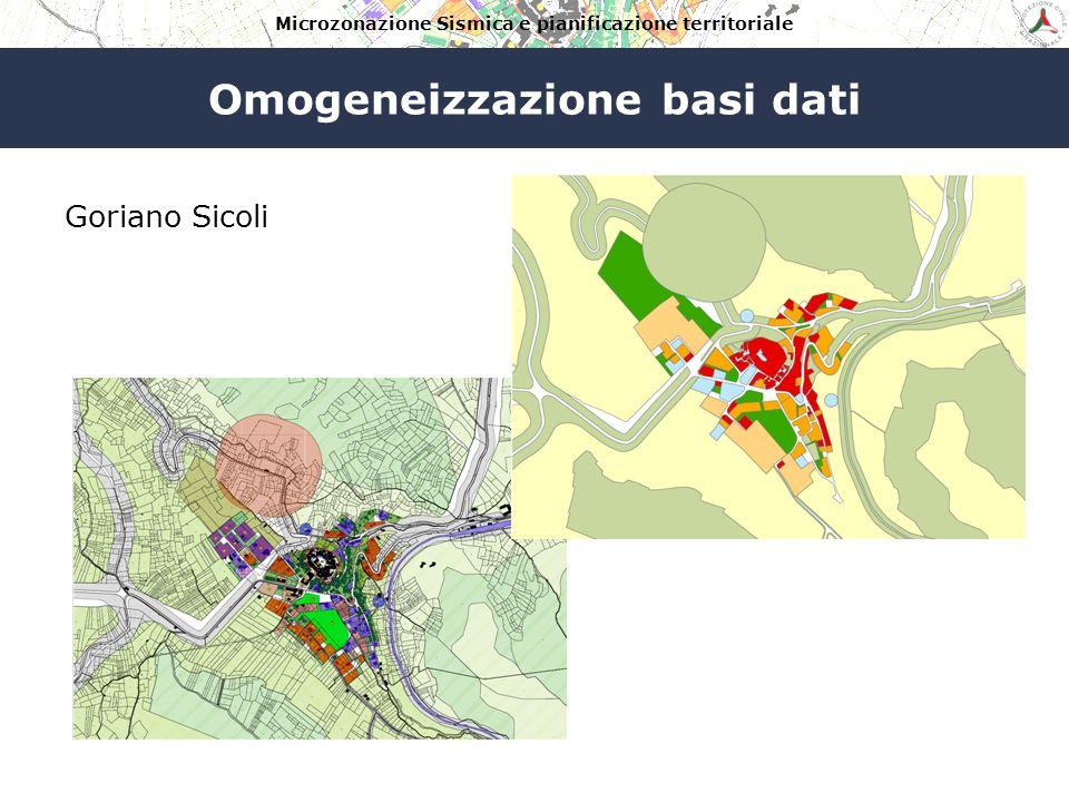 Microzonazione Sismica e pianificazione territoriale Omogeneizzazione basi dati Fossa
