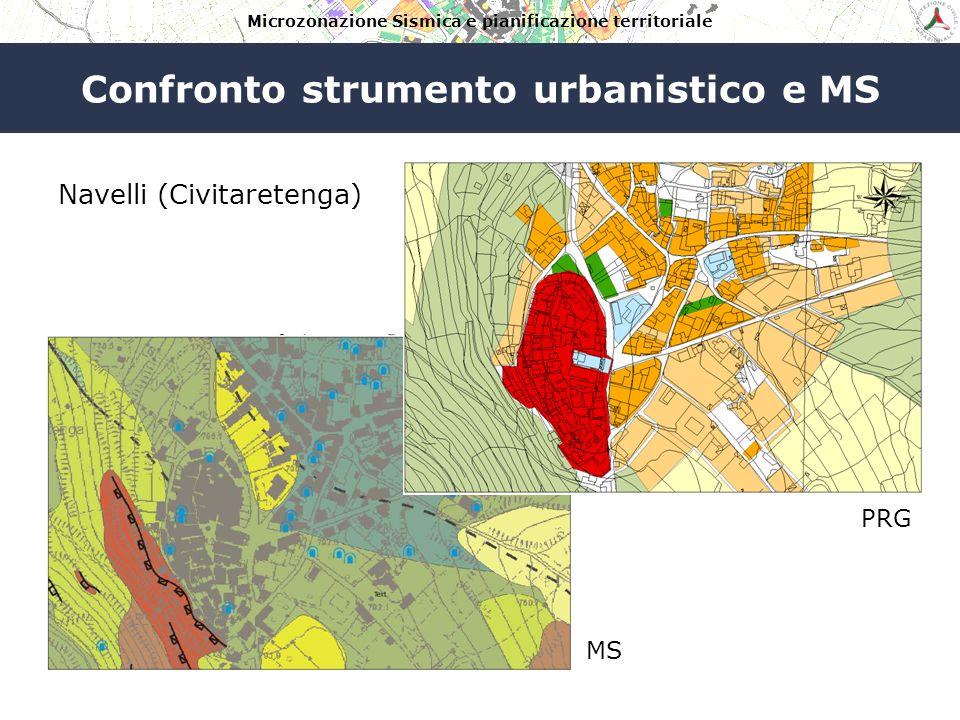 Microzonazione Sismica e pianificazione territoriale Confronto strumento urbanistico e MS Navelli (Civitaretenga)