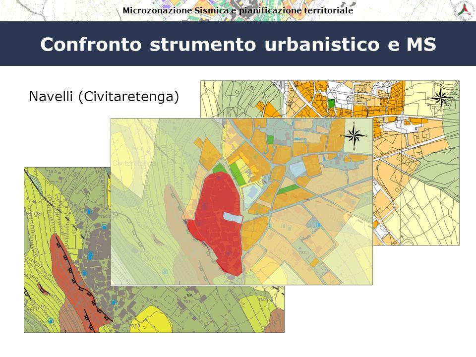 Microzonazione Sismica e pianificazione territoriale Confronto strumento urbanistico e MS Navelli PRG MS