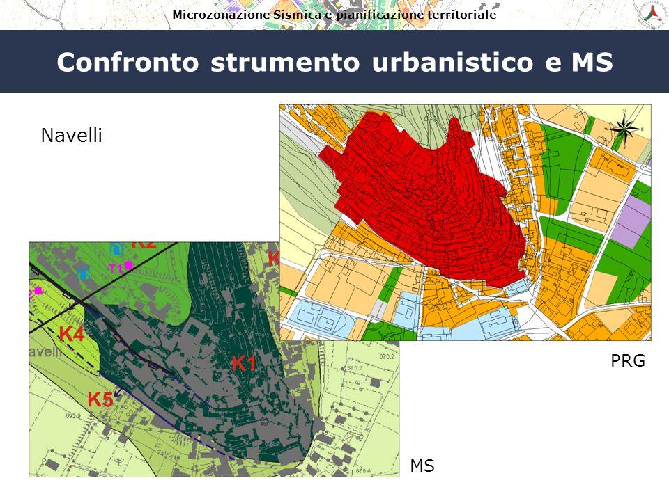 Microzonazione Sismica e pianificazione territoriale Confronto strumento urbanistico e MS Navelli