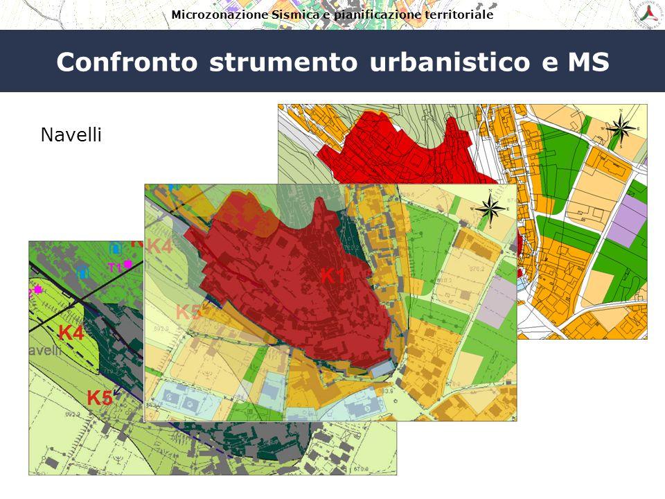 Microzonazione Sismica e pianificazione territoriale Analisi delle sovrapposizioni