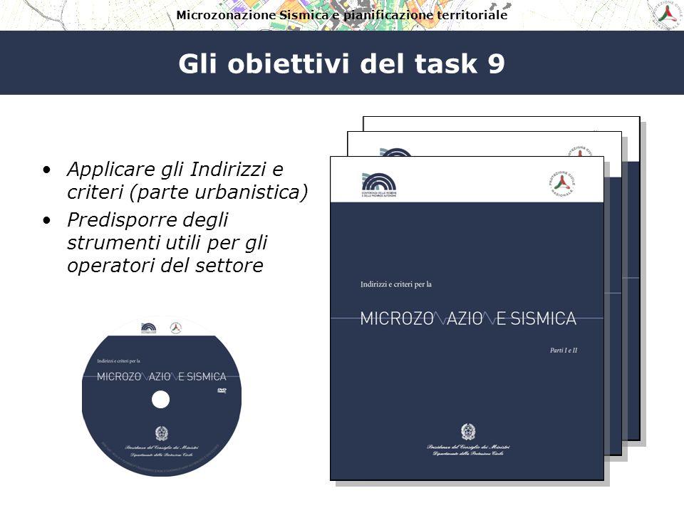 Microzonazione Sismica e pianificazione territoriale Gli obiettivi del task 9