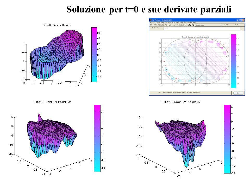 Soluzione per t=0 e sue derivate parziali