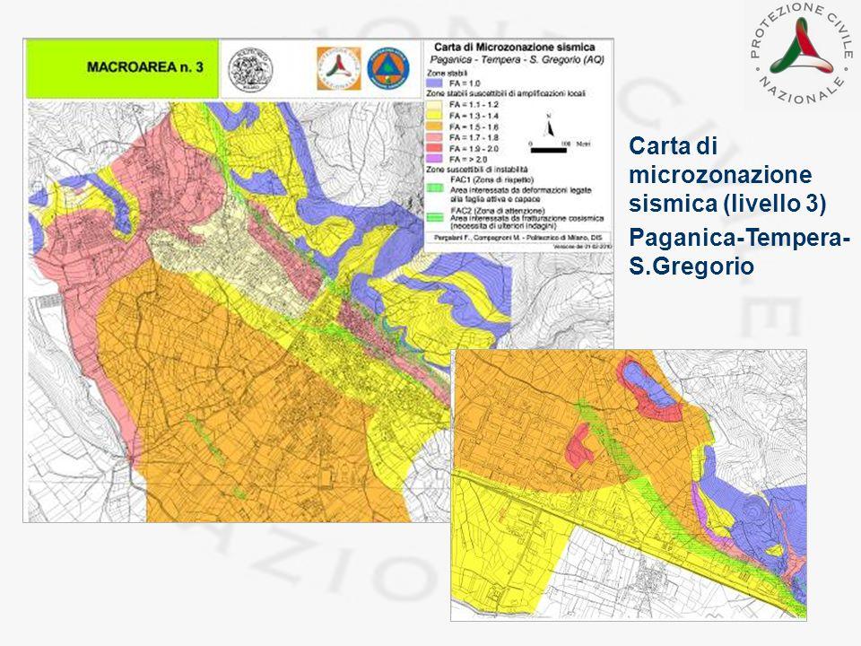 Carta di microzonazione sismica (livello 3) Paganica-Tempera- S.Gregorio