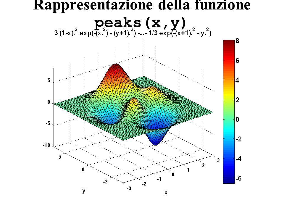 Rappresentazione della funzione peaks(x,y)