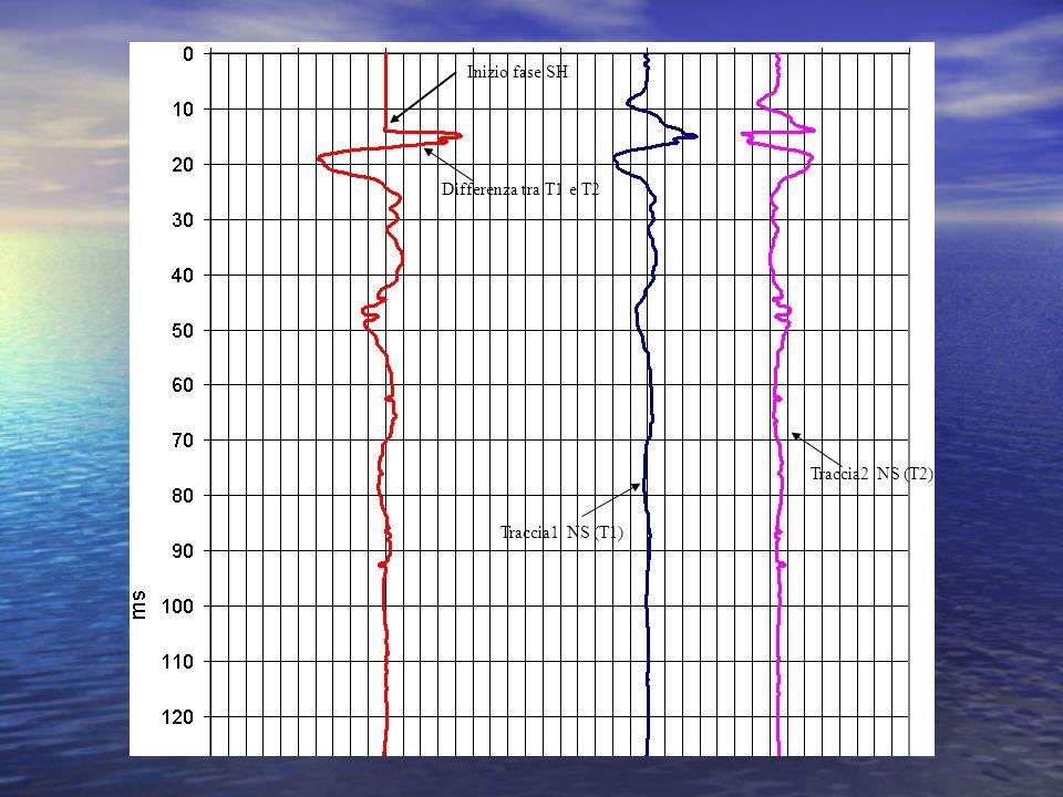 Traccia2 NS (T2) Traccia1 NS (T1) Differenza tra T1 e T2 Inizio fase SH
