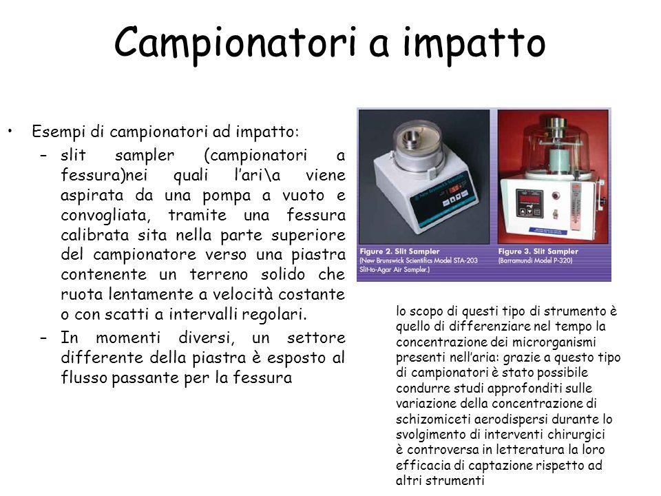 Sistemi a centrifuga Reuter Centrifugal Sampler (RCS) –campionatore portatile grande quanto una torcia.