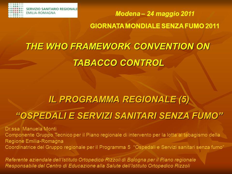 Piano regionale di intervento per la lotta al tabagismo (Deliberazione della Giunta regionale del 11 giugno 2008, n.844) 1.