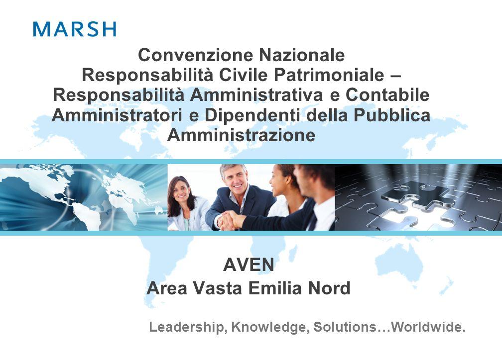 Leadership, Knowledge, Solutions…Worldwide. Convenzione Nazionale Responsabilità Civile Patrimoniale – Responsabilità Amministrativa e Contabile Ammin