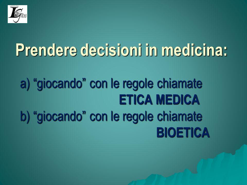 Lalternativa: A) Una diversa concezione della buona medicina