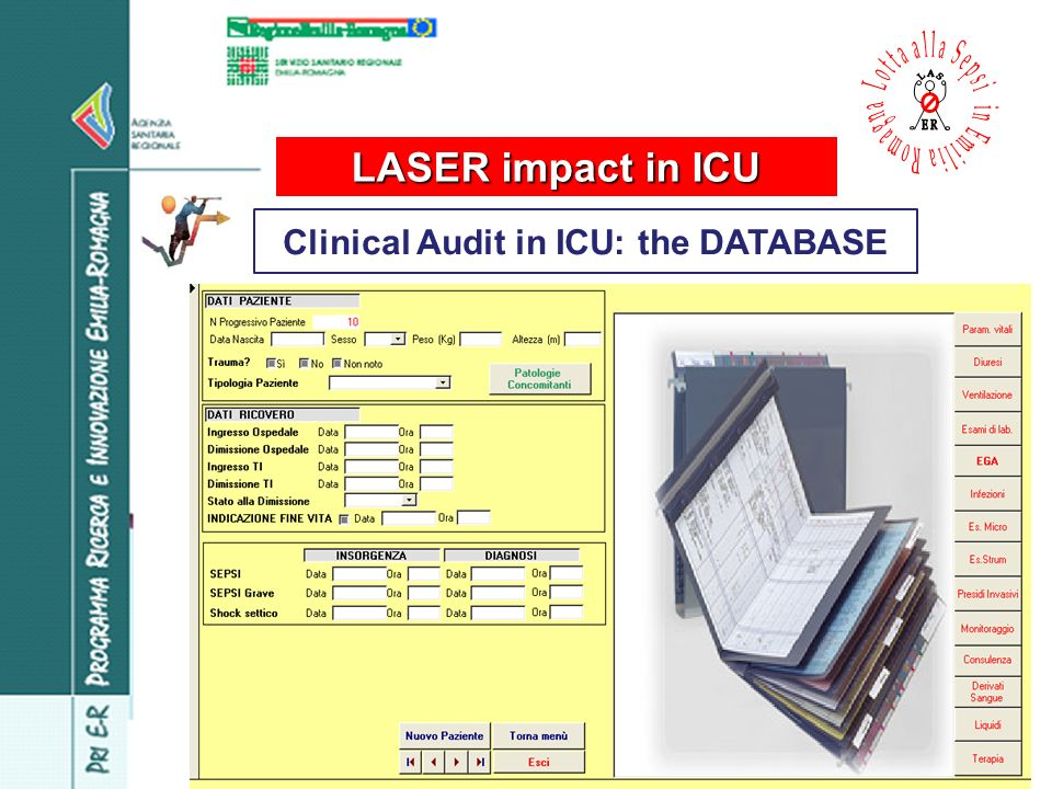 Clinical Audit in ICU: the DATABASE LASER impact in ICU